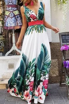 915eb05d9788 SPECIFICATIONS  Product Name Fashion Sleeveless Floral Print Maxi Dress  Brand Pinksia Color Green SKU IN8BB30CB7FD1D