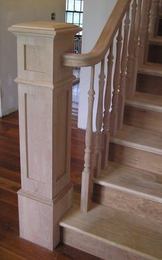 Stairs design handrail newel posts 28 ideas for 2019 Stair Newel Post, Stair Posts, Wood Staircase, Staircase Remodel, Staircase Railings, Newel Posts, Wooden Stairs, Staircases, Banisters