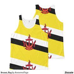 Brunei, flag All-Over print tank top