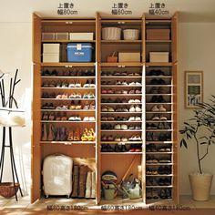 いろいろ収納できる造り付け家具のような玄関収納シューズボックス 幅60cm 通販 - ディノス