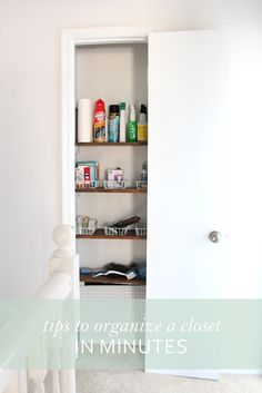 Tips for Organizing Closets in minutes