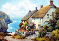 Fine Art Paintings | FREDERICK PARR (fl. 1920-1930). Inscribed verso 'Cadgwith, (The Lizard ...