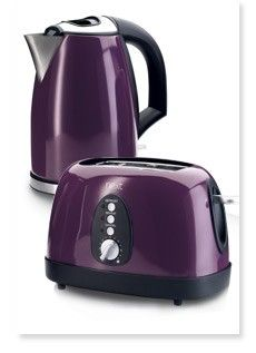 Purple kitchen appliances, to coordinate with the Purple Kitchenaid I pinned! The Purple, Purple Home, All Things Purple, Shades Of Purple, Purple Stuff, Purple City, Red Stuff, Purple Colors, Purple Glass