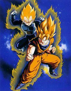 Goku and Vegeta SSJ - Visit now for 3D Dragon Ball Z shirts now on sale!