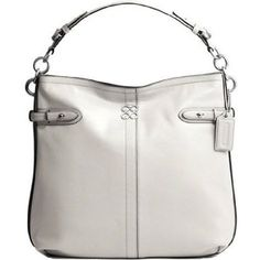 Coach Chalk White Leather Colette now at $298.00