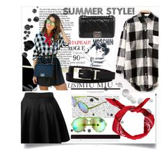 """Summer style!"" by salihovic-nihad ❤ liked on Polyvore featuring Moschino, Boohoo, Chanel, Italia Independent and Liz Claiborne"