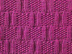 Bracket Stitch Stitch number mult of 14 + 1 + 2 edge stitches.