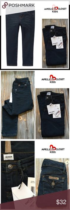 HUDSON Denim Skinny Jeans w/Stretch HUDSON Denim Skinny Jeans w/Stretch  SIZING: True to size, toddler & little girls sizes  COLOR: Dark wash- big house BLUE    ABOUT THIS ITEM * Zip fly & button front closure * 5-pocket construction; Fading & whiskering on thighs  * Interior adjustable waist * Skinny leg & stretch-to-fit style * Dual fold over back pockets w/button closure FABRIC- cotton, 4% polyester, 2% spandex   ❌NO TRADES❌ ✅BUNDLE DISCOUNTS ✅ OFFERS CONSIDERED (Via the offer button…