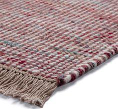 Esprit - Loom Dhurrie Red Hall Runner Rugs - buy online at Modern Rugs UK