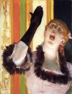 The Athenaeum - Singer with a Glove (Edgar Degas - circa 1878)