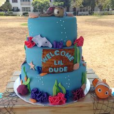 Finding Nemo baby shower cake. Cake made by Jackie of Pastel by Jackie