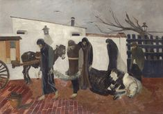 Lorenzo Viani (Italiano, 1882-1936) Titolo: La morte del cavallo , 1924 Media: olio su tavola Dimensione: 74,5 x 106 cm. (29,3 x 41,7 in.) View past auction results for LorenzoViani on artnet