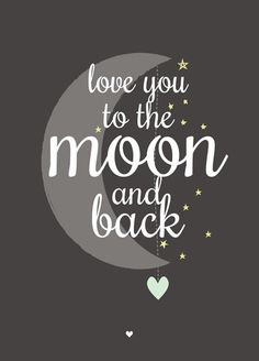 Ansichtkaart love you to the moon zwart wit Happy Thoughts, Wise Words, Favorite Quotes, Party Supplies, Me Quotes, Illustration, To My Daughter, Inspirational Quotes, Motivational