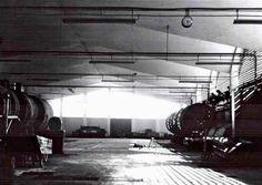 Vista interior de la nave principal, Tenería Temola, Carretera Cuautla-Las Estacas, Cuautla, Morelos, Mexico 1967-1968 Arqs. Max Cetto y Félix Candela Foto. Archivo Max Cetto, UNAM - Interor view of the main factory building, Temole Tannery, Cuatla, Morelos, Mexico 1967-68