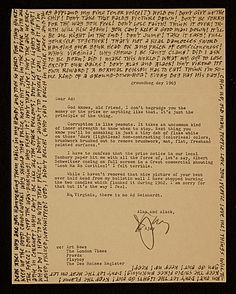 [Abe Ajay letter to Ad Reinhardt with Reinhardt's handwritten response]
