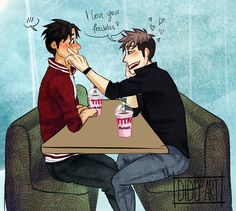 """Attack on Titan ~~ """"Titan Slushies""""?! Really? :: Jean and Marco by Didly-Art"""