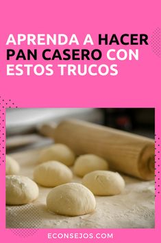 Cómo hacer pan casero Pizza Recipes, Mexican Food Recipes, Cakes For Women, Pan Bread, Empanadas, Special Recipes, Menu Restaurant, How To Make Bread, Sin Gluten