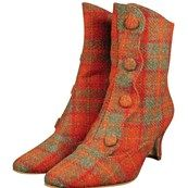 Harris Tweed Button Boots
