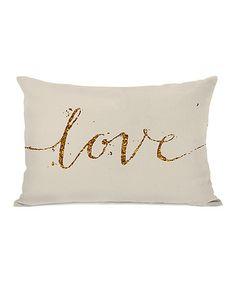 Love this 'Love' Throw Pillow on #zulily! #zulilyfinds