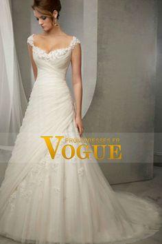 2015 bretelles gaine / colonne robe de mariée corsage plissé avec perles de cristal Appliques