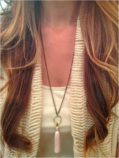 Pink Tassel Necklace - elladolce