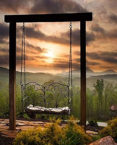 swing with a view GEORGIA SUNSET - Looking to the east just after sunup provided a spectacular view this morning at the Cottage Winery in White County Georgia. by landscape nature swing Beautiful Sunset, Beautiful World, Beautiful Places, Beautiful Pictures, Amazing Nature Photos, Peaceful Places, Belle Photo, Beautiful Landscapes, The Great Outdoors