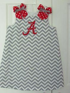Chevron A-line Dress Gameday Alabama Bama Roll Tide Football Collegiate Cheerleader