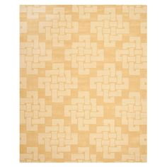 Hand-tufted wool rug with a Celtic knot motif.  Product: RugConstruction Material: 100% WoolColor: