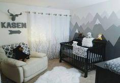 new Ideas baby nursery dresser frames Grey Nursery Boy, Ikea Nursery, Nursery Dresser, Nursery Crib, Nursery Ideas, Nursery Murals, Nursery Themes, Room Ideas, Baby Boys