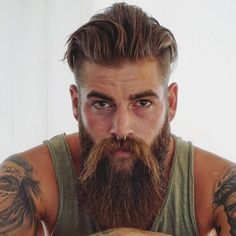 54 Viking Hairstyles – Men Hairstyles World Hair And Beard Styles, Curly Hair Styles, Dreads, Down Hairstyles, Viking Hairstyles, Men's Hairstyles, Viking Haircut, Swept Back Hair, Viking Braids