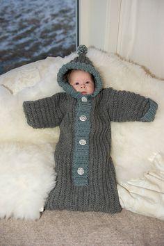 Baby bunting crochet pdf pattern by OptimisticByNature on Etsy, $5.50