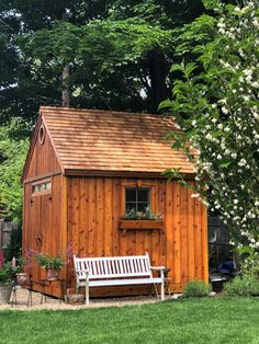 If you want something rustic, go with a Telluride. And don't forget the flowerbox! Small Wood Shed, Garden Shed Kits, Alpine Style, Cedar Shingles, Transom Windows, Shed Design, Shed Plans, Flower Boxes, Building Plans