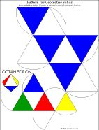 Printable pattern for octahedron