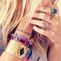 Boho jewelry #lulusrocktheroad, jewellery, accessory, fashion, boho, bohemian, hippie, free spirit