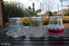 candelabros vasos yogur  fuxiatelier