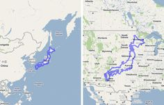japan is distinctly smaller than the us i bet you knew that