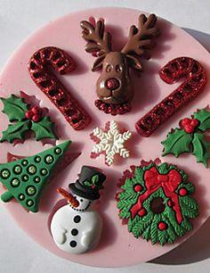 Christmas Snowman Silicone Chocolate / Mold Fondant / Açúcar – BRL R$ 45,68