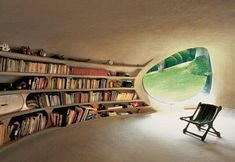 This strange home library in a Mexico City backyard : CozyPlaces Maison Earthship, Earthship Home, Organic Architecture, Architecture Design, Residential Architecture, Contemporary Architecture, Architecture Organique, Natural Homes, Earth Homes
