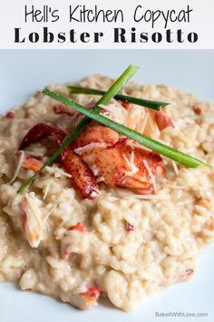 We tend to binge watch Gordon Ramsay shows and since Hell's Kitchen frequently features Lobster Risotto, we have always loved the look (and tantalizing taste!) of Gordon Ramsay Hell's Kitchen Lobster Risotto Recipe. So, we thought we'd try to find and mat Side Dish Recipes, Fish Recipes, Seafood Recipes, Dinner Recipes, Lobster Risotto, Seafood Risotto, Kitchen Recipes, Cooking Recipes, Healthy Recipes
