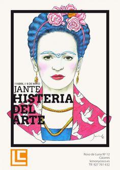 Histeria del #arte - @JavierInfant http://www.lemonycoco.es/histeria-del-arte-javier-infante/ #dibujo #ilustración #exposición #drawing #illustration #exhibition #art
