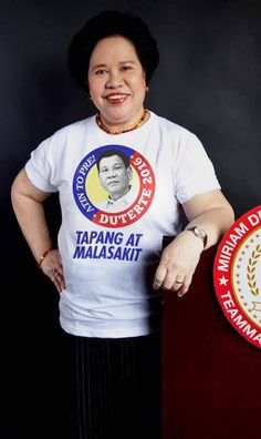 Truth Revealed: Miriam Defensor-Santiago Willing To Withdraw Her Candidacy To Support Duterte? MUST READ! | TNP - Trending News Portal Miriam Defensor Santiago, Minion, Portal, Change, Reading, News, Summer, Mens Tops, T Shirt
