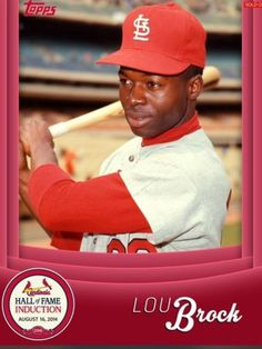 TOPPS-BUNT-HALL-OF-FAME-INDUCTION-LOU-BROCK-ST-LOUIS-CARDINALS-ONLY-500-EXIST