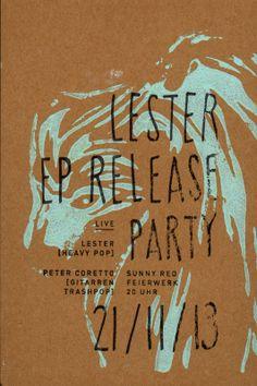 LIVE! Punk Merkzettel - LESTER Record Release + PETER CORETTO