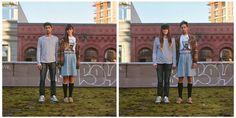 "Hana Pesut's ""Switcheroo"" photo project - I'd like to do something like this on my next trip   :3"