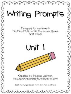 teachers of Treasures series - writing prompts for first grade
