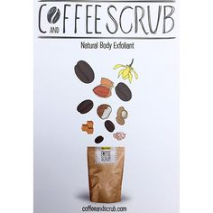 Let's keep this simple, coffeeandscrub is a 100% natural face & body exfoliant!  It's packed with freshly ground Robusta coffee beans, a blend of natural & organic oils along with Himalayan pink rock salt & raw sugar - simple! coffeeandscrub.com
