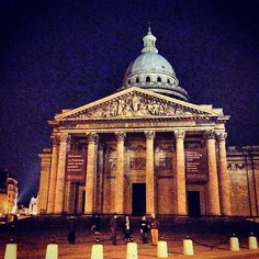 Panthéon in Paris, Île-de-France Now acts a mausoleum that houses distinguished French citizens. Modeled from the Pantheon in Rome. Some of the individuals buried within the Pantheon: Voltaire, Jean-Jacques Rousseau, and Marie Curie. What to see inside: The dome, the façade, the pendulum, the paintings and sculptures, and the crypt and famous tombs.  Hours: 10:00am - 6:00pm Cost: 7 Euros. Go to the top of the stairs (for free) and get a view of the city.