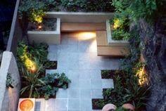 Moderne kleine tuin, mooi.