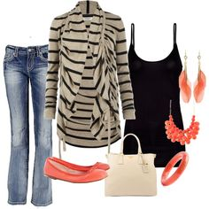 Love the hint of coral!- cute