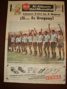 1966 ENGLAND FIFA SOCCER WORLD CUP URUGUAY VINTAGE ORIGINAL NEWPAPER POSTERS in Sports Mem, Cards & Fan Shop, Vintage Sports Memorabilia, Posters | eBay
